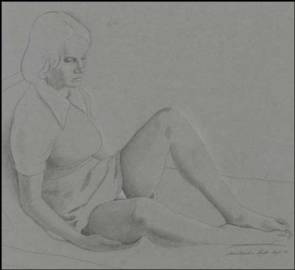 Portrait of a Young Woman by artist Christopher John Pratt
